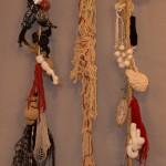 « Lianes » corde, laine, tissu, 220 cm
