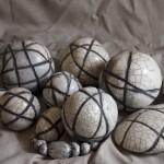 « Liens » terre cuite émaillée, de 10 à 30 cm