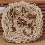 « Méandres » coton traditionnel, 55x55 cm