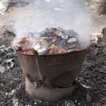 Canettes de soda recyclées