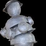 « Vénus de Conakry » aluminium recyclé, 200 cm