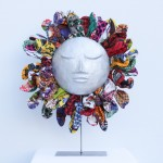 « Soleil d'Afrique », aluminium recyclé, tissu - 50 cm, 2016