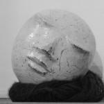 Tête, terre émaillée - 17 cm, 2016